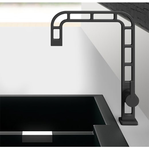Single lever sink mixer stainless steel complete black, <br>AN: ON921201560