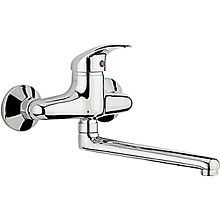 Wall mounted single lever mixer chrome with swivel spout for sink, kitchen, washbasin etc.<br>AN: SX910101015