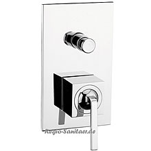 Single lever built-in mixer chrome with diverter for shower or bath,<br>AN: WO860101015
