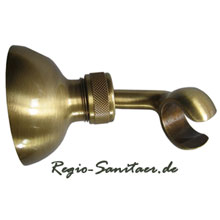 Wall-mounted adjustable shower holder bronze brush-finished,<br>AN: AC0439065